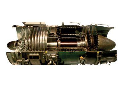 Corte de Motor Turbofán CF700 Modelo AE-06-700