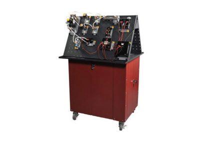 Sistema de entrenamiento Neumática básica, electro neumática, control por PLC, control por sensores y servo proporcional