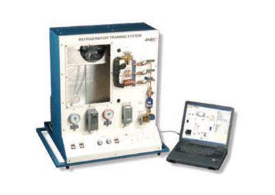 Sistema de entrenamiento refrigeración y aire acondicionado con adquisición de datos