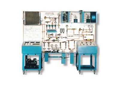Sistema de entrenamiento refrigeración y aire acondicionado con instrumentación convencional